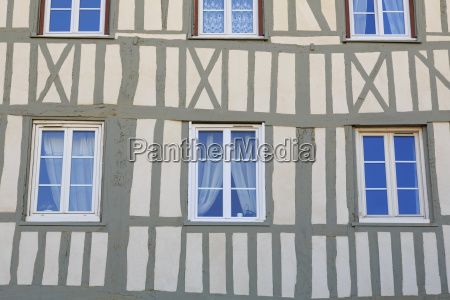 timber framed house old town rouen