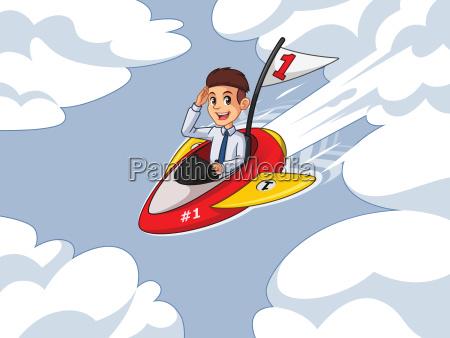 businessman in shirt cartoon character design