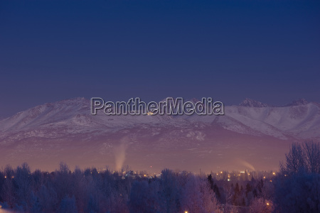 view of the chugach mountains at