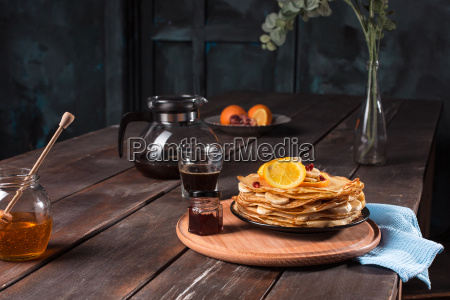 fresh homemade french crepes made with