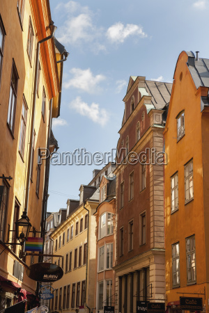 buildings in the old town stockholm